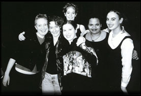 Kelley with her students